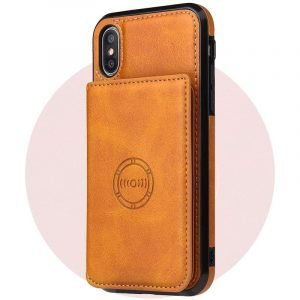 leather wallet iphone case with magnetic mount, wholesale lovingcase