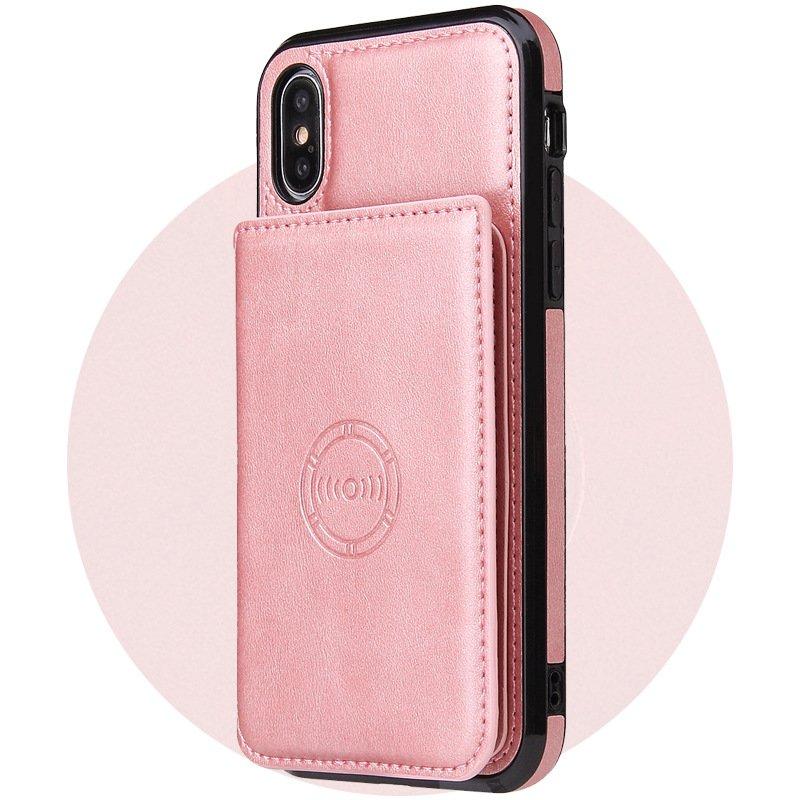 pink leather wallet iphon case wholesale - lovingcase