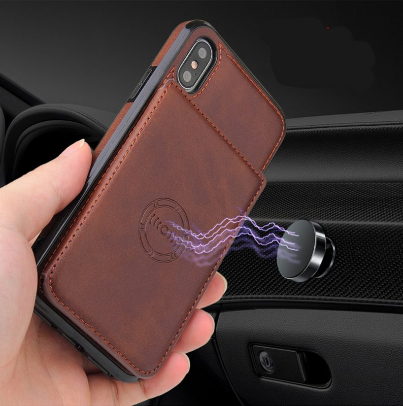 leather wallet phone case with magnetic mount, lovingcase wholesale