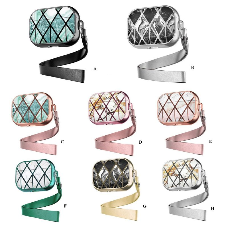 wholesale luxury airpods pro case, metallic marble, lovingcase