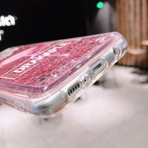 pink glitter samsung phone case