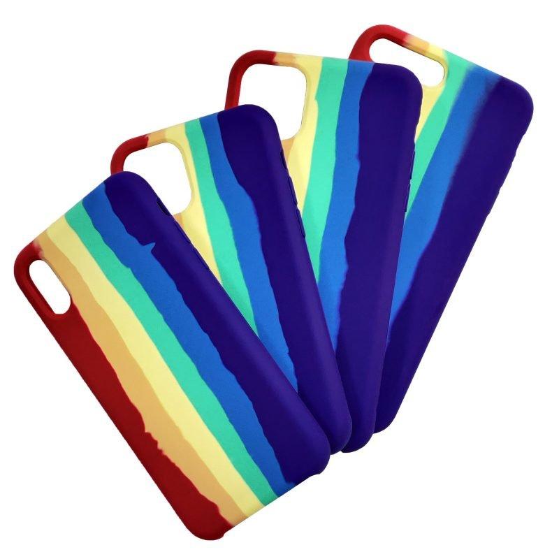 silicone rainbow iphone cases, lovingcase wholesale supplier
