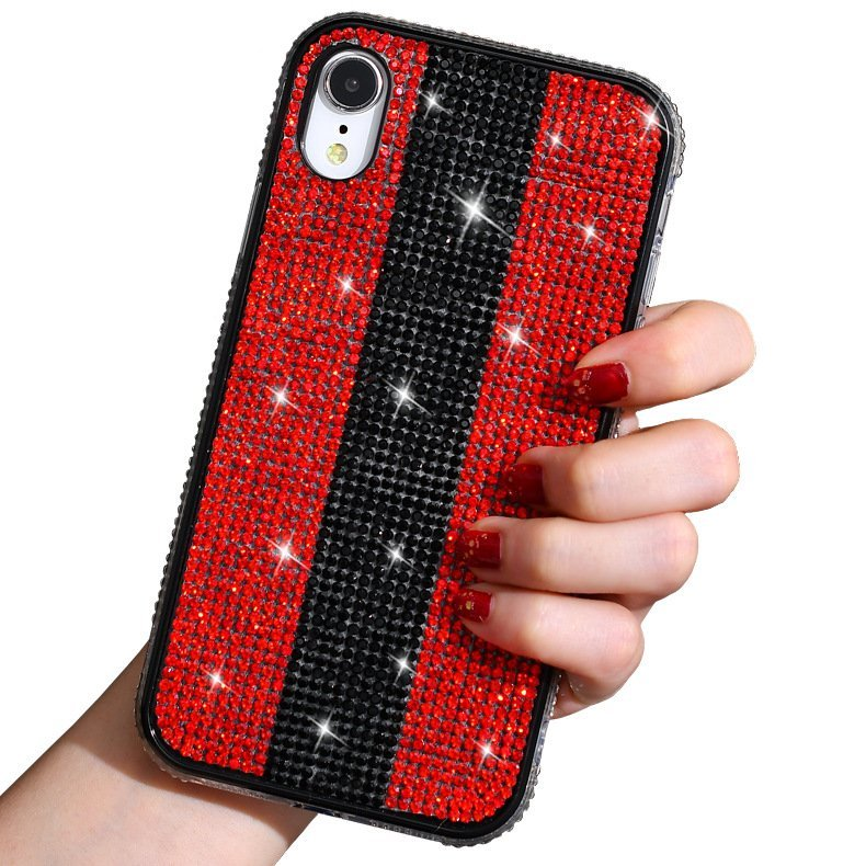 glitter rhinestone iphone xr case, wholesale & custom