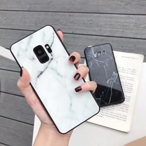 tempered glass marble case for samsung phone, note, galaxy, lovingcase