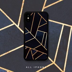 sublimation phone covers, geometry black gold, wholesale
