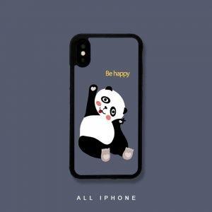 happy panda phone case, sublimation print, wholesale