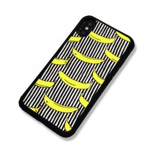fashion phone cases, banana, black stripes, wholesale