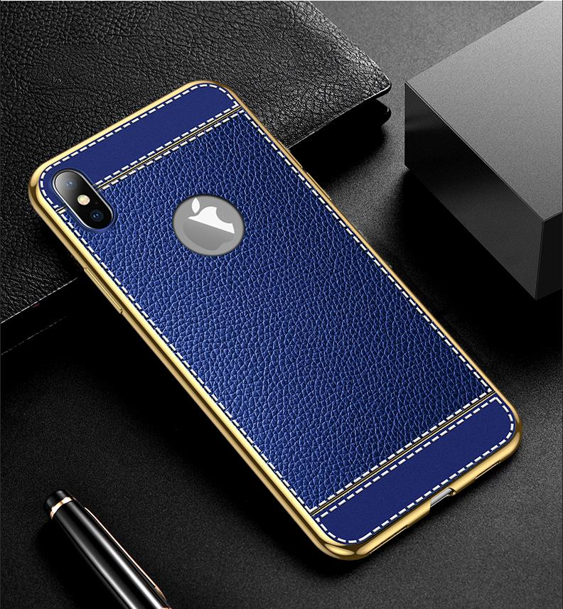 cheap leather phone cases in blue, wholesale LOVINGCASE