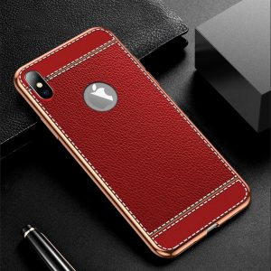 red leather print iPhone cases, LOVINGCASE wholesaler, supplier