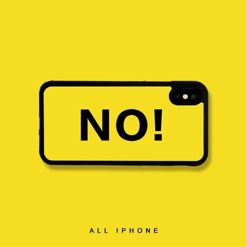 statement fun iphone cases, word no, lovingcase wholesale