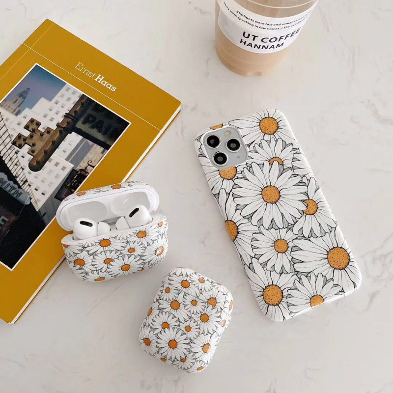 best selling 2020 white daisy iphone case & airpods pro case wholesale, LOVINGCASE
