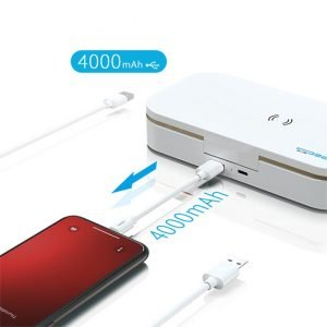 phone uv sanitizer box with wireless charging and power bank