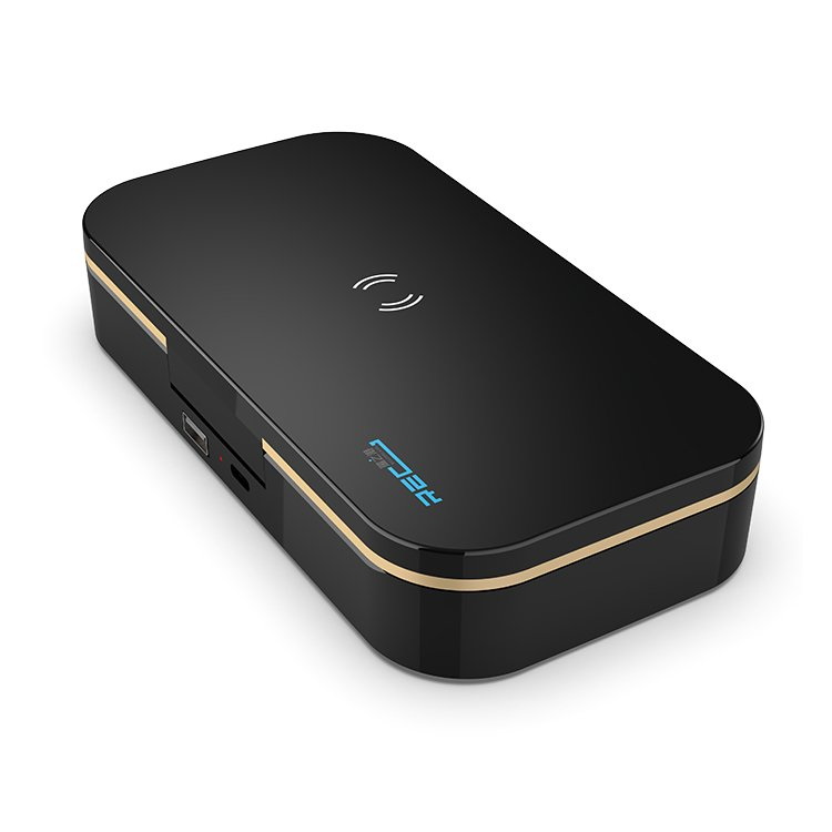 black uv sanitizer box with wireless charging, power bank for wholesale