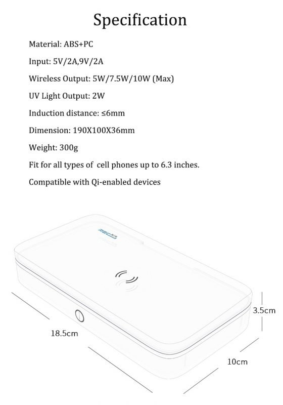 uv sanitizing box with wireless charging and power bank feature, wholesale, manufacturer in china