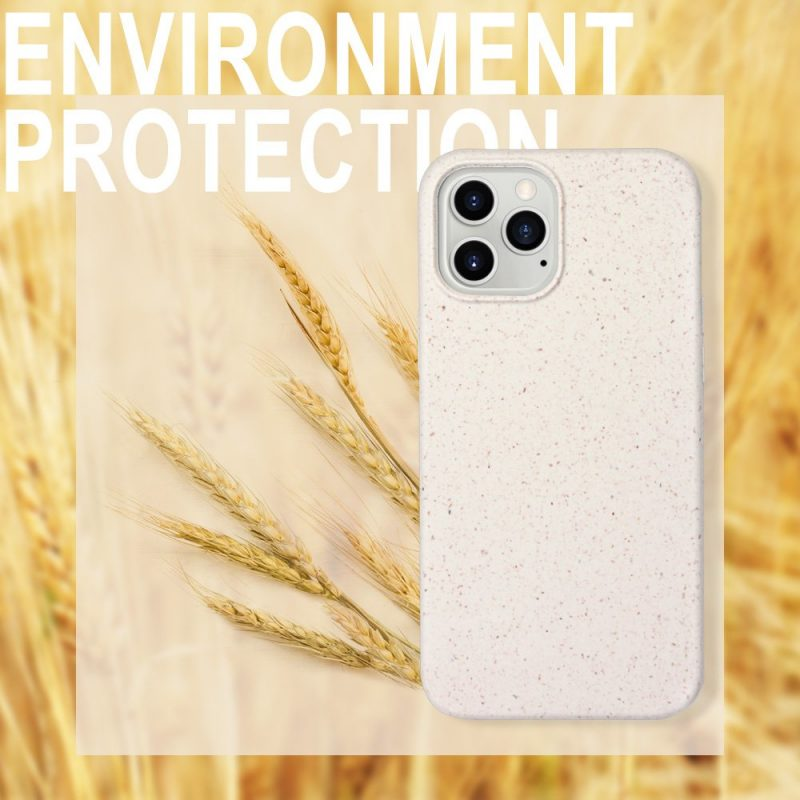 compostable iphone cases in creamy color, wholesaler, manufacturer