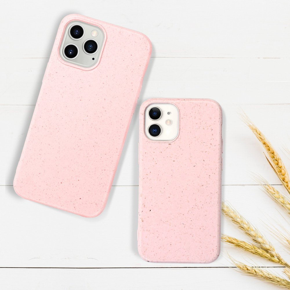 pink iphone 12 / pro / max cases , biodegradable case