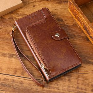 wallet pouch iphone cases, leather - brown- lovingcase