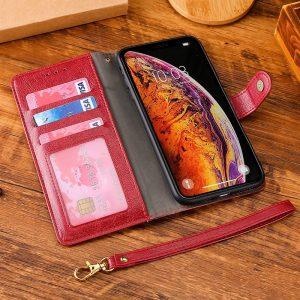 red leather folio iphone cases, wholesale custom