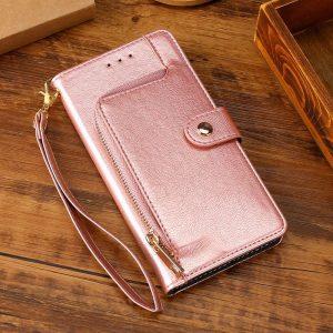 rosegold iphone cases folio wallet, wholesale