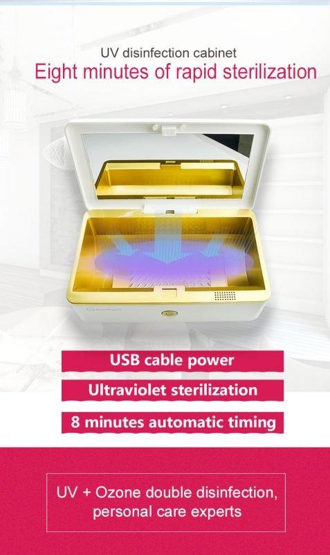 uv light sanitizer box for phone, makeup tools, manufacturer