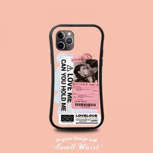slim waist iphone case - sublimation- love me hold me in pink - lovingcase wholesale