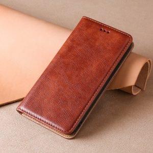brown iphone folio case, wallet cover, lovingcase
