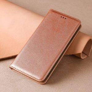 rosegold leather folio case for iphone, samsung, huawei, LOVINGCASE
