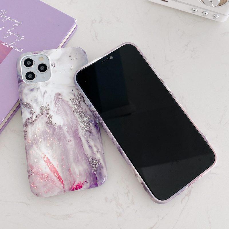 purple fantasy luminous iphone 12 case wholesale bulk - LOVINGCASE