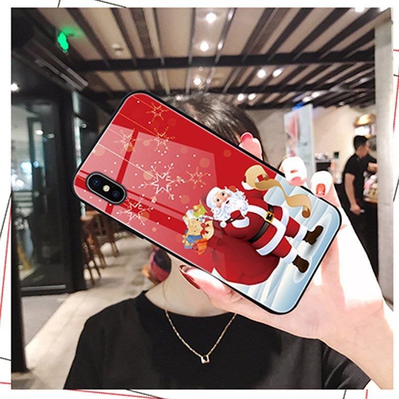 tempered glass iphone cases, santa claus christmas, bulk wholesale, supplier