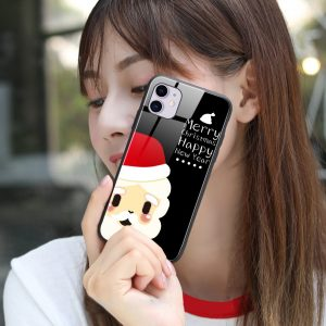 wholesale and custom christmas glass cases for iphone, samsung