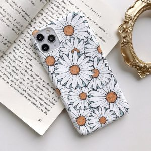 white daisy iphone case - best seller 2020 - lovingcase wholesale
