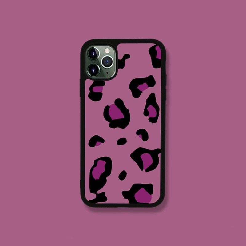 berry color leopard sublimation iphone cases bulk wholesale sale