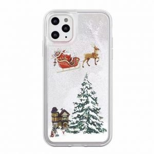 flowing white snowflake iPhone cases wholesale for christmas