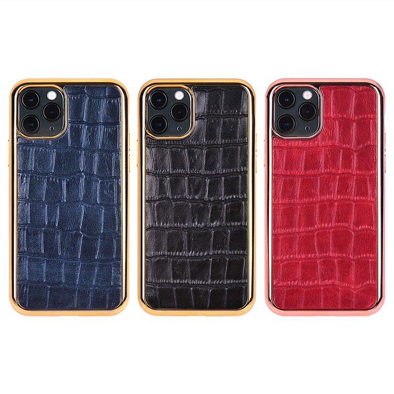 bulk custom real leather cell phone case in crocodile pattern - lovingcase wholesale