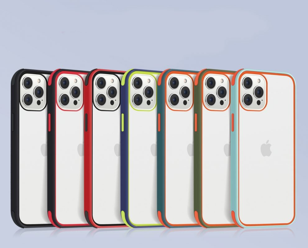 acrylic clear cell phone cases, with silicone edge, shockproof, lovingcase wholesale supplier