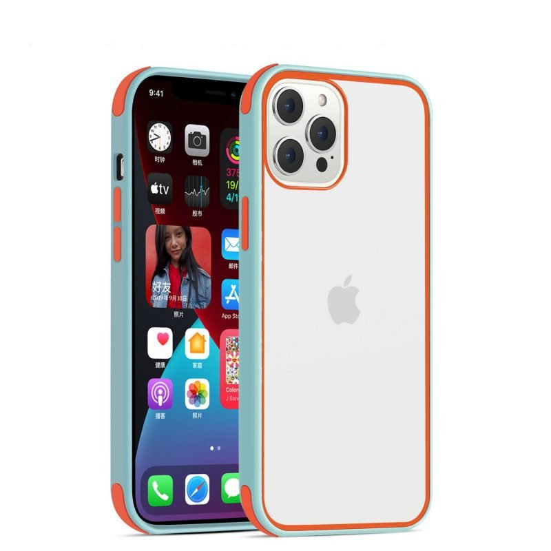 acrylic clear cell phone cases, with silicone edge, shockproof, lovingcase wholesale supplier - baby blue