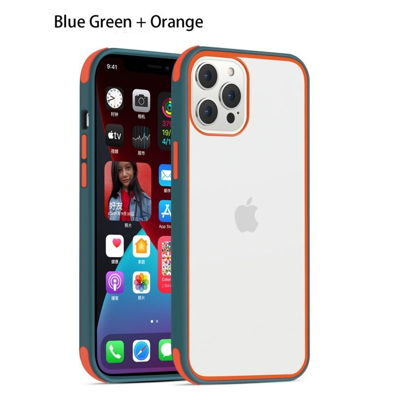 acrylic clear cell phone cases, with silicone edge, shockproof, lovingcase wholesale supplier - dark green