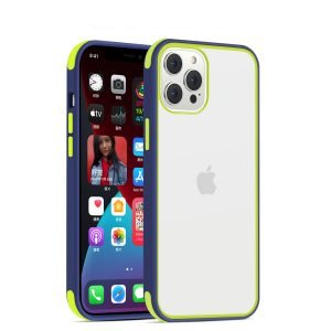 acrylic clear cell phone cases, with silicone edge, shockproof, lovingcase wholesale supplier - navy