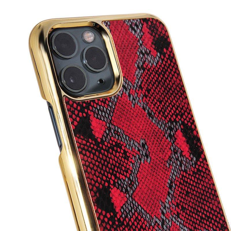 bulk custom iphone case in genuine cowhide leather- animal print -red snake skin- fashion