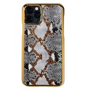 bulk custom iphone case in genuine cowhide leather- animal print -ivory