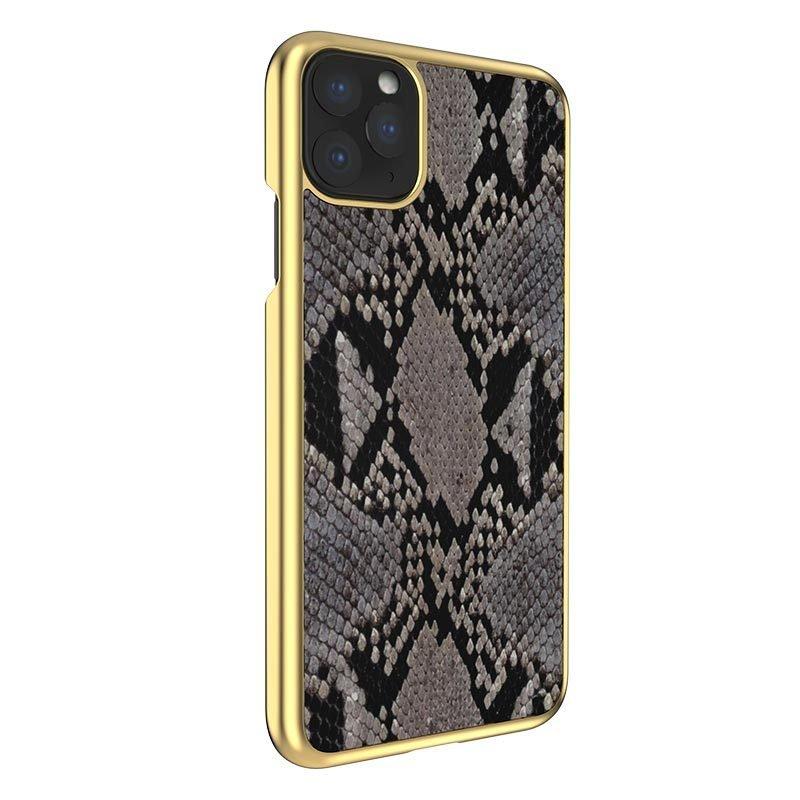 bulk custom iphone case in genuine cowhide leather- animal print grey