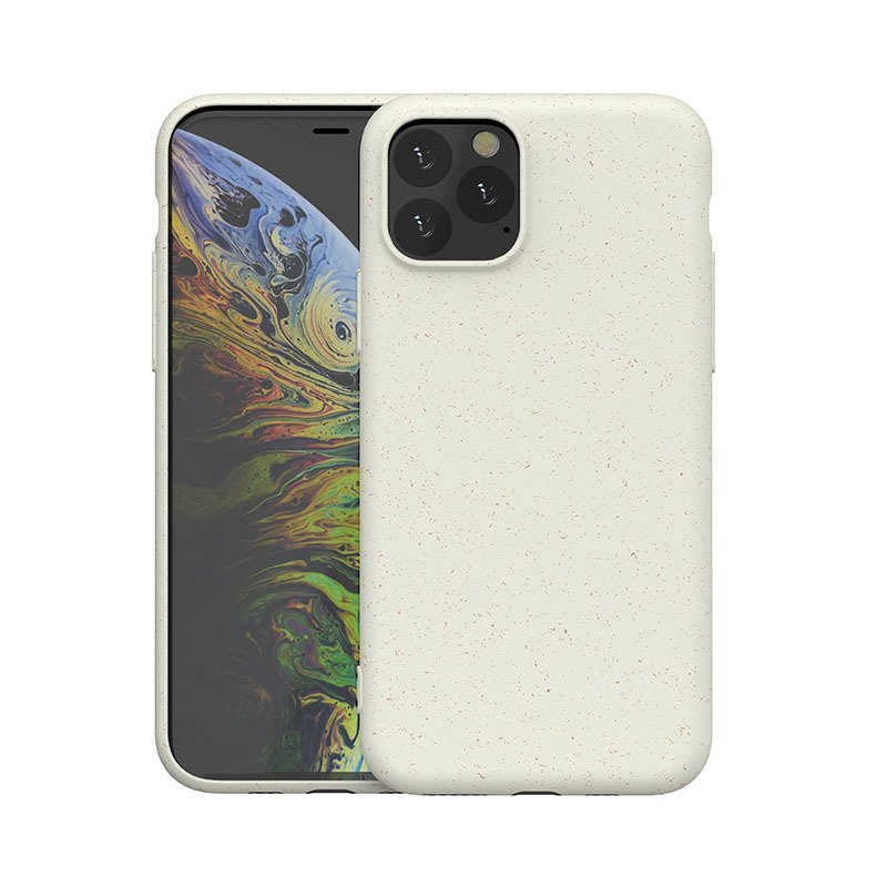 ivory biodegradable cell phone covers with straw fiber, wholesale bulk custom