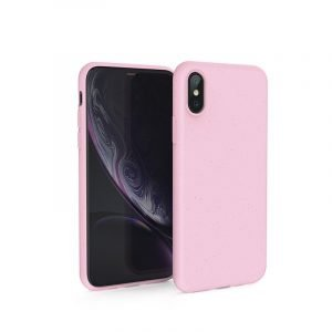 pink biodegradable cell phone covers with straw fiber, wholesale bulk custom