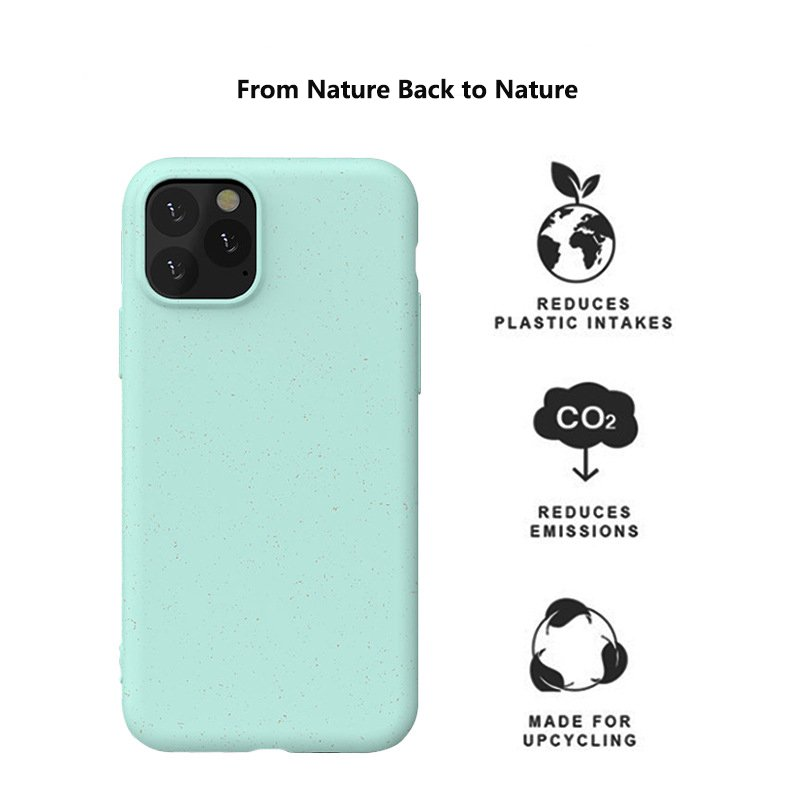 eco biodegradable cell phone covers with straw fiber, wholesale bulk custom