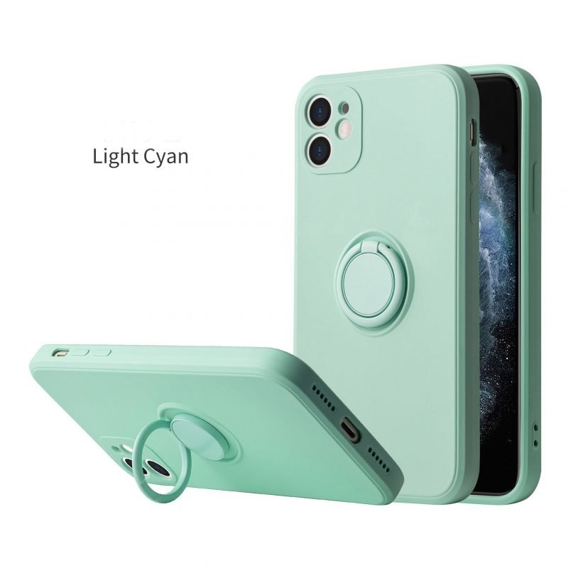 cyan faux liquid silicone iphone cases