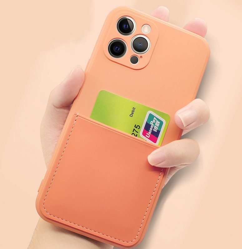 faux liquid silicone iphone case with card wallet, wholesale bulk, lovingcase