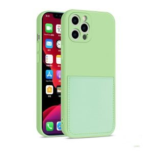 wholesale custom faux liquid silicone iphone case with wallet -