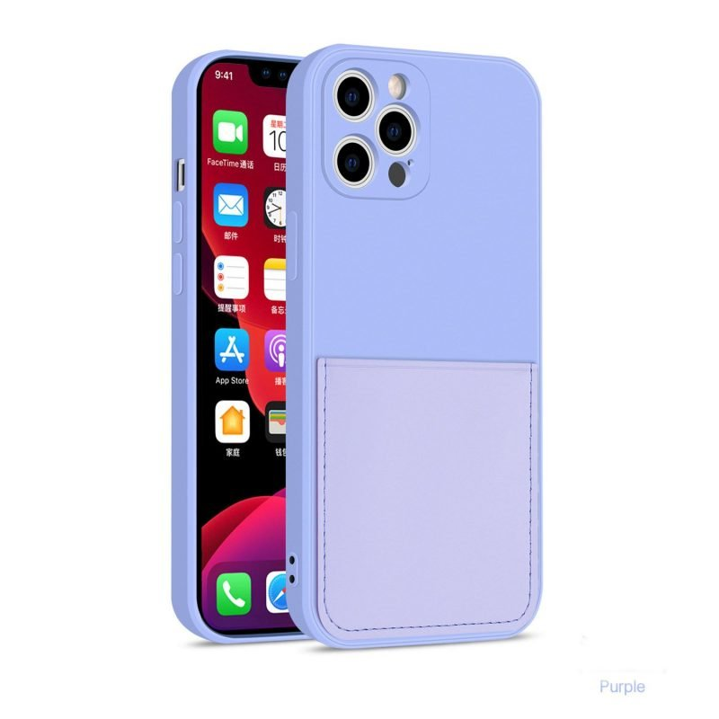 faux liquid silicone iphone case with wallet -lovingcase wholesale supplier