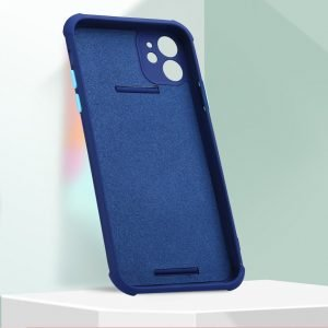 faux silicone case with grip band - navy, wholesale bulk supplier