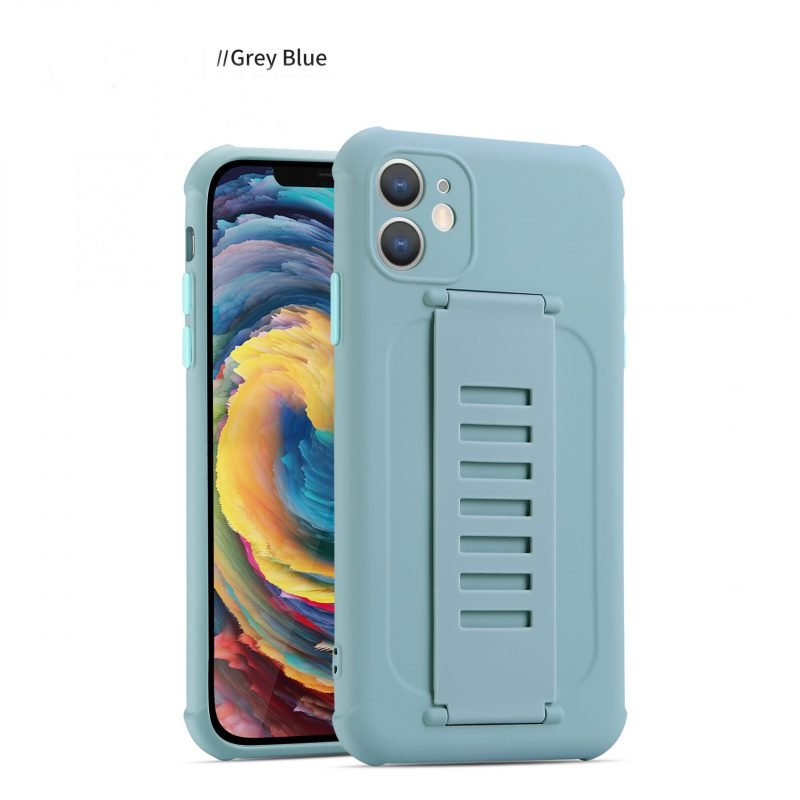 faux silicone case with grip band - blue wholesale supplier, uk lovingcase